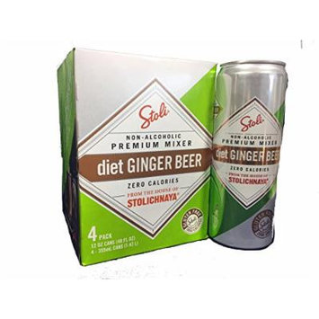 Stoli Diet Ginger Beer 4 - 12oz Cans