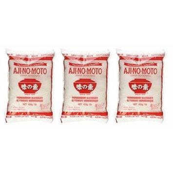 Aji No Moto Ajinomoto Monosodium Glutamate Umami Seasoning 1lb 454g Bag (Pack of 3)