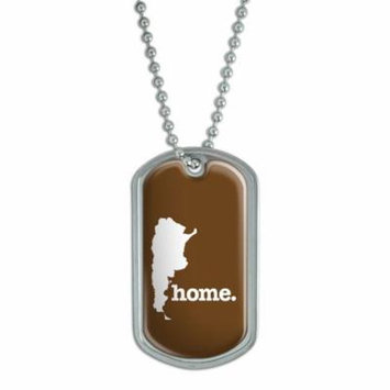 Argentina Home Country Dog Tag - Solid Brown