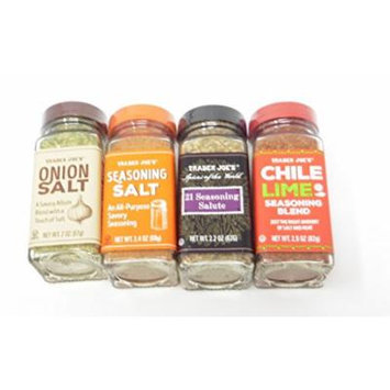 Cooking With a Touch of Savory Trader Joes Chile Lime, 21 Salute, Onion Salt and Seasoning Salt (4/pk)
