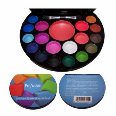 Quality Cosmetics 18 Color Matte Eye Shadow & Blush Palette Makeup (CosF414M ZZ)