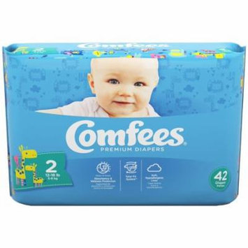 Comfees Baby Diapers, Size 2 (12-18 Lbs) - Case of 168
