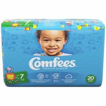Comfees Baby Diapers, Size 7 (41+ Lbs) - Case of 80