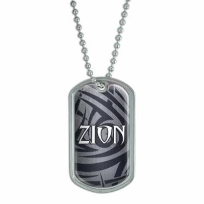 Male Names - Zion - Dog Tag