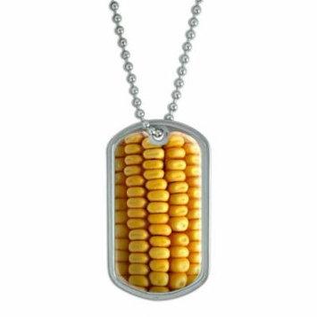 Corn Cob Kernels Dog Tag