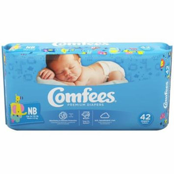 Comfees Baby Diapers, Newborn (Up to 10 Lbs) - Case of 168
