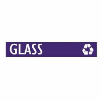 Witt Industries GEO-GL Glass With Chasing Arrow Decal For Geocube Recycling Receptacles - White