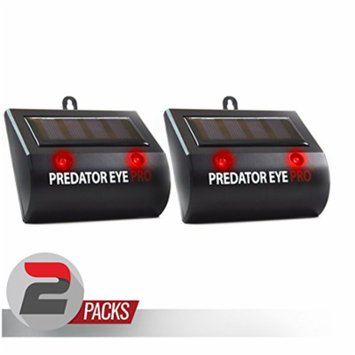 Aspectek l 4600sq ft l Predator Eye PRO with Kick Stand Solar Powered Predator Light Deterrent Light Night Time Animal Control for Animal Rodents, Cats, Dogs, Birds, Raccoon, Wolves, Foxes - 2 Pack