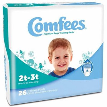 Comfees Premium Training Pants, Boys 2T-3T (Up to 34 Lbs) - Case of 156