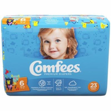 Comfees Baby Diapers, Size 6 (35+ Lbs) - Case of 92