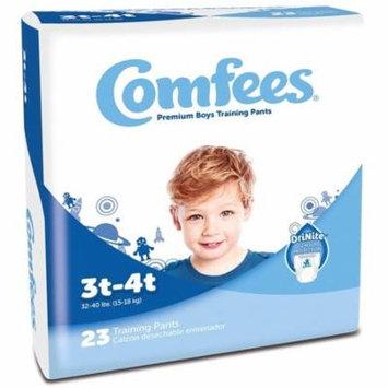 Comfees Premium Training Pants, Boys 3T-4T (32-40 Lbs) - Case of 138
