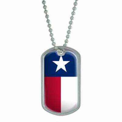 Texas State Flag Dog Tag