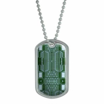 Empty Circuit Board Design Dog Tag