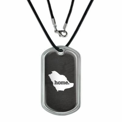 Saudi Arabia Home Country Dog Tag - Textured Dark Grey Gray