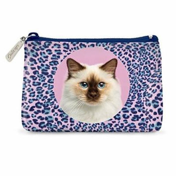 Catseye Cosmetic Makeup Pouch - Leopard Cat, Small