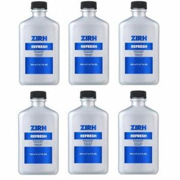 Zirh Refresh Invigorating Astringent, 6.7 oz (Pack of 6) + Schick Slim Twin ST for Sensitive Skin