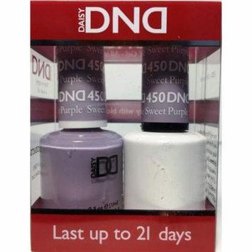 DND Nail Polish Gel & Matching Lacquer Set (450 - Sweet Purple)