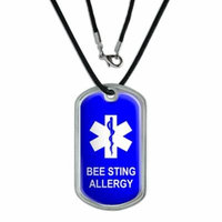 Bee Sting Allergy Dog Tag