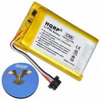 HQRP Battery for MiTAC DigiWalker Mio 541380530006 / BL-LP1230/11-D00001U / BP-LP1200/11-D0001MX / G025A-Ab / G025M-AB Replacement + HQRP Coaster