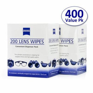 Zeiss Pre-Moistened Lens Cleaning Wipes(6*5 inch) in Bulk Packaging-400 Count