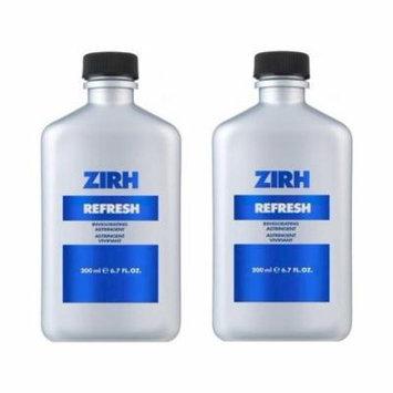 Zirh Refresh Invigorating Astringent, 6.7 oz (Pack of 2) + Schick Slim Twin ST for Sensitive Skin