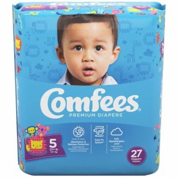 Comfees Baby Diapers, Size 5 (27+ Lbs) - Pack of 27