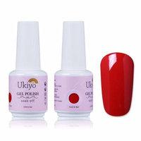 Ukiyo UV LED Nail Gel Polish Nail Art Soak Off Varnish 15ML /0.20fl.oz 1343-Red Roses