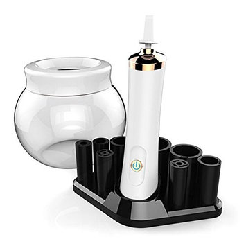 Arhehuang Electric Professional Makeup Brush Cleaner and Dryer, Automatic, Quick, Easy and Mess Free Spin Cleaning- Rotating, Cleans and Dries All Makeup Brushes in Seconds