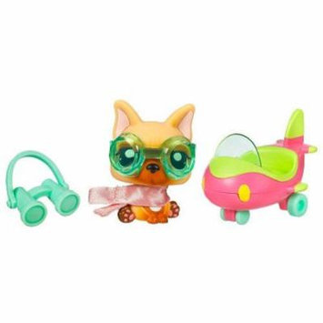 Littlest Pet Shop Pets On the Go Series 1 Dog with Airplane