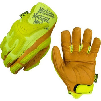 Safety High-Visibility Heavy Duty Leather Gloves - Multiple Sizes
