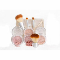 EVERYDAY KIT Full Size Mineral Makeup Set Matte Foundation Bare Face Sheer Powder Cover (DEEP TAN)