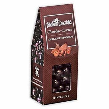 Dark Chocolate Covered Espresso Beans - 6 oz Gift Box - by Dilettante (4 Pack)