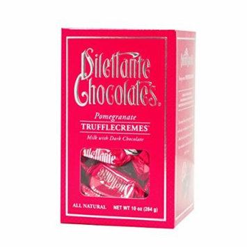 Pomegranate TruffleCremes in Milk & Dark Chocolate - 10 oz Gift Box - by Dilettante (3 Pack)
