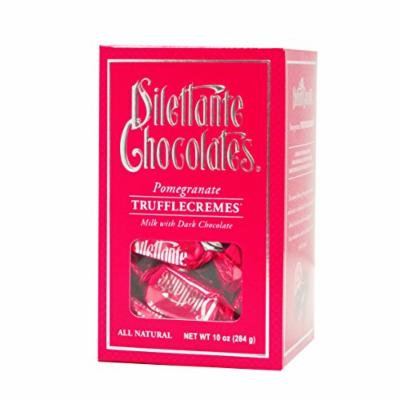 Pomegranate TruffleCremes in Milk & Dark Chocolate - 10 oz Gift Box - by Dilettante (3 Pack)
