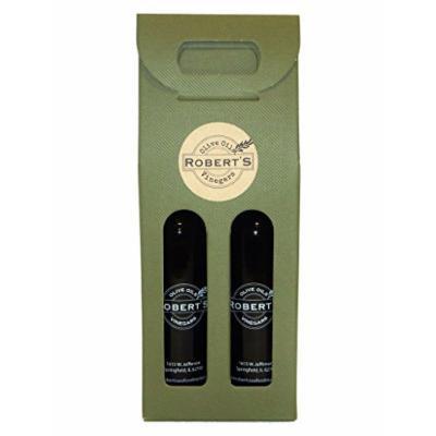 Robert's Infused Olive Oil and Balsamic Vinegar - 2 (375ml) bottle gift pack - White Truffle and Pomegranate