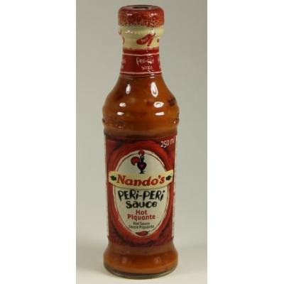 Nando's Peri-Peri Hot Sauces 2 by 9.1 oz LARGE dble Size South African (Hot)