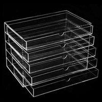 5 LayerMakeup Cosmetic Jewelry Organizer Drawer Transparent Multipurpose Display Box Storage