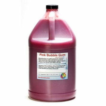 Pink Bubble Gum Shaved Ice and Snow Cone Flavor Concentrate Gallon Size (128 Fl Oz)