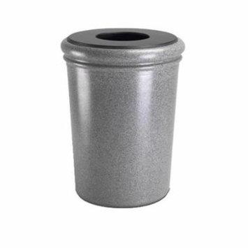 Commercial Zone 720917 50-Gallon StoneTec Waste Container - Ashtone