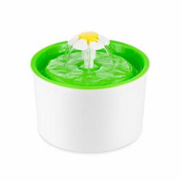 Estink Pet Water Fountain Cat Water Fountain, Cat Water Dispenser, Automatic Electric Flower Fountain for Dogs and Cats, Green