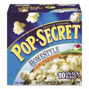 Pop Secret Microwave Popcorn, Homestyle (1.2 oz bags, 10 pk.)- Pack of 2