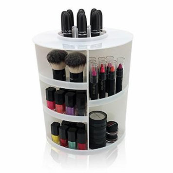 Modern Home Roxanne Rotating Acrylic Cosmetic/Makeup Organizer, Clear