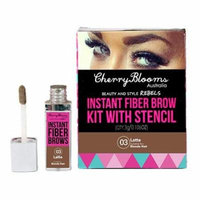 Cherry Blooms Instant Fiber Brow with Stencil, Latte, .11 oz