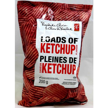 President's Choice Potato Chips, Loads of Ketchup, 200 Grams/7.05 Ounces - 3 Pack [Loads of Ketchup]