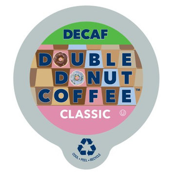 Double Donut Classic Decaf Coffee, in Recyclable Single Serve Cups for Keurig K-Cup Brewers, 80 Count