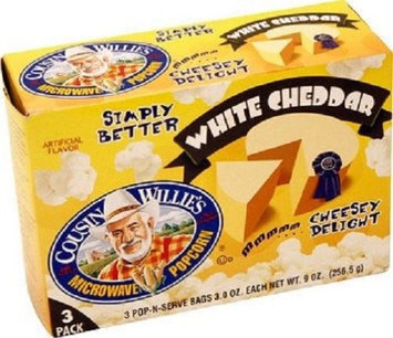 Cousin Willie's Simply Better White Cheddar Microwave Popcorn