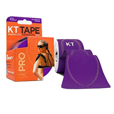 KT TAPE PRO Elastic Kinesiology Therapeutic Tape - 20 Pre-Cut 10-Inch Strips []