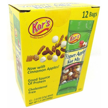Kar's Yogurt Apple Nut Mix with Greek Yogurt Raisins, 2 ounce (Pack of 12)