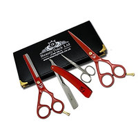 BeautyTrack Hair Salon Scissors Professional Hairdressing Barber Scissors Barber Thinning Scissor Shears Set Hair Salon Equipment