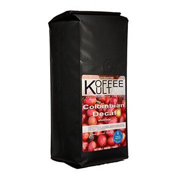 Koffee Kult - Colombian Decaf Coffee Medium Roast- Water Process CHEMICAL FREE (Ground)